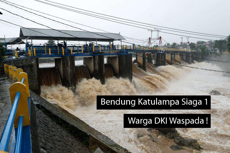 Bendung Katulampa Siaga 1, Warga Jakarta Diminta Waspada